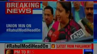 We all have witnessed the lies propagated by Rahul Gandhi in Lok Sabha today, says Smriti Irani - NEWSXLIVE