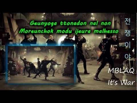 It's War - MBLAQ (Karaoke/Instrumental)