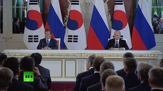 LIVE: Putin & S. Korea's Moon speak to press in Moscow - RUSSIATODAY