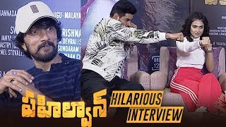Pailwaan Movie Team Interview | Kichcha Sudeep, Aakanksha Singh,Kabir Duhan Singh - TFPC