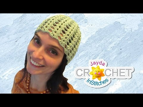 Crochet Beanie Hat - Split Shell Stitch - Vintage Style