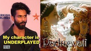 Shahid on 'Padmavati' trailer: My character is UNDERPLAYED - IANSLIVE