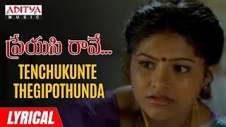 Tenchukunte Thegipothunda Lyrical | Preyasi Raave Songs | Srikanth, Raasi | M.M. Srilekha - ADITYAMUSIC