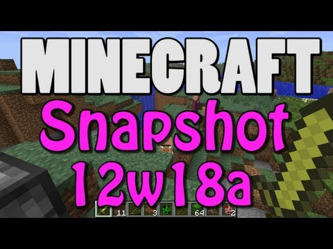 Minecraft Snapshot 12w18a (SINGLE+MULTIPLAYER MERGING)