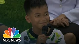 Thai Soccer Boys Speak Out After Dramatic Rescue From Flooded Cave | NBC News - NBCNEWS