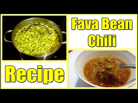 Fresh Fava Bean Chili Recipe   Yum!