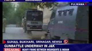 Encounter between militants, security forces in Pulwama - NEWSXLIVE