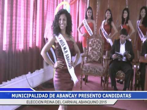 PRESENTACION CANDIDATAS ELECCION REINA DEL CARNAVAL ABANQUINO 2015