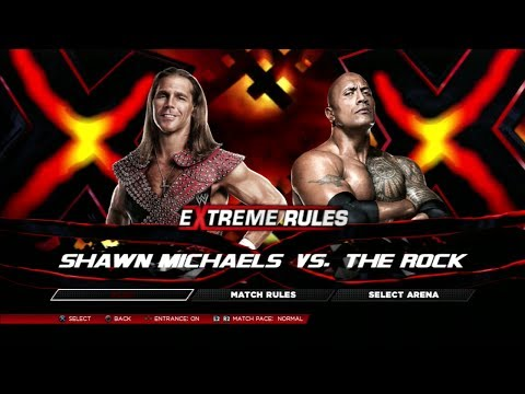 WWE Top Ten Fantasy Dream Matches - #09 Shawn Michaels VS The Rock [WWE 2K14] [PS3/HD]