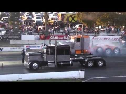 Gear Jammin Big Rigs Drag Racing the 1/4 Mile