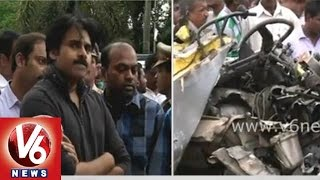 Pawan Kalyan responds over Medak school bus accident tragedy - V6NEWSTELUGU
