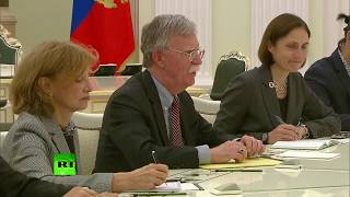 John Bolton meets Putin during his visit to Moscow - RUSSIATODAY