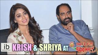 Krish & Shriya Saran at Radio Mirchi - idlebrain.com - IDLEBRAINLIVE