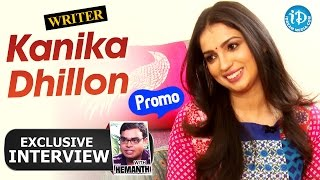 Kanika Dhillon Exclusive Interview - Promo || Talking Movies with iDream - IDREAMMOVIES