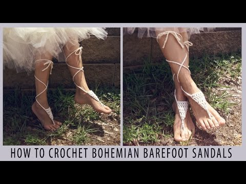 How to Crochet Bohemian Barefoot Sandals