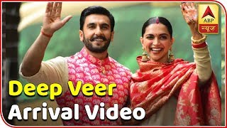 EXCLUSIVE arrival video of Ranveer Singh, Deepika Padukone - ABPNEWSTV