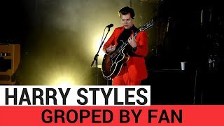 Harry Styles Groped By Fan On Stage - HOLLYWIRETV