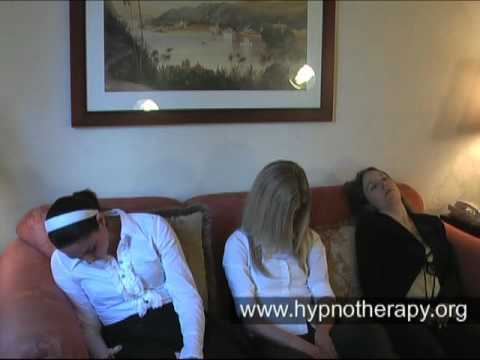 3 girls going under hypnosis - Part 3 - Deepening, catalepsy, forgetting a number