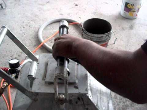 maqmex bomba para aplicacion de pastas y mezclas para repellar pared y techos