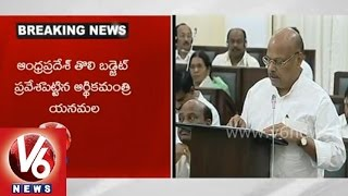 Finance Minister Yanamala Rama Krishnudu introduces Finanacial Budget in AP Assembly - V6NEWSTELUGU