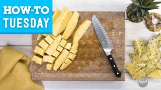 How To Cut a Pineapple | Food Network - FOODNETWORKTV