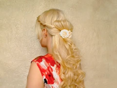 Romantic summer half up half down hairstyles with curls for long hair tutorial summer night out 2011