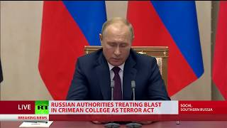 Putin on Crimea attack: 'Tragic event, we now know it's a crime, motives being carefully studied' - RUSSIATODAY