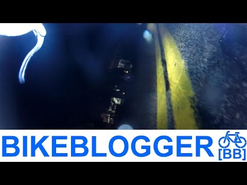 Bike Crash Road Rash! Wet Road Night Commute BikeBlogger
