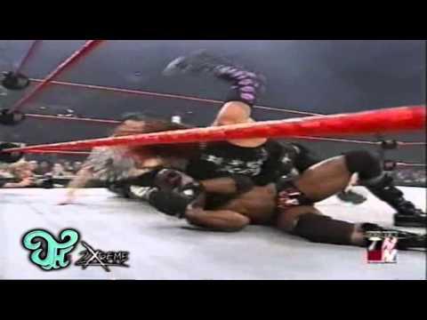 Jeff Hardy VS Booker T WWE Raw 1-27-2003
