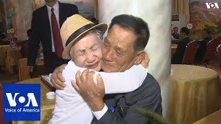 Families from North and South Korea reunite after decades apart - VOAVIDEO