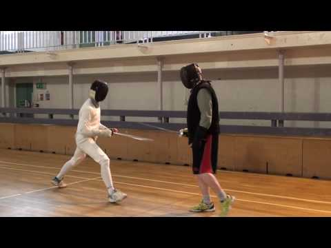 Foil Fencing Lesson Adam Blight & Ayman   5
