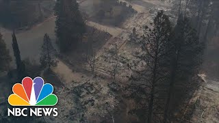 Watch Devastation Left Behind From Wildfires In Paradise, California | NBC News - NBCNEWS