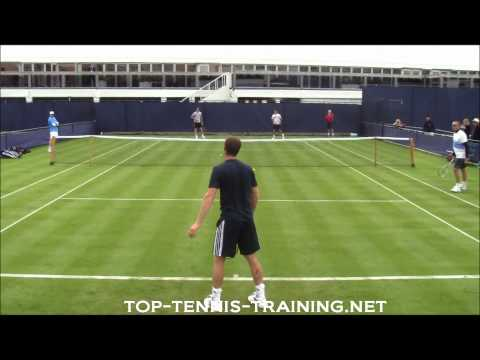 Andy Murray Training On Grass 2012