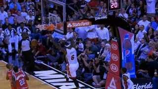 LeBron James Throws Down The Huge Alley Oop From Chalmers