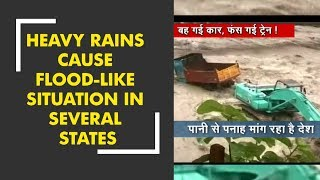 Heavy rainfall leads to flood like situation in several states of India - ZEENEWS