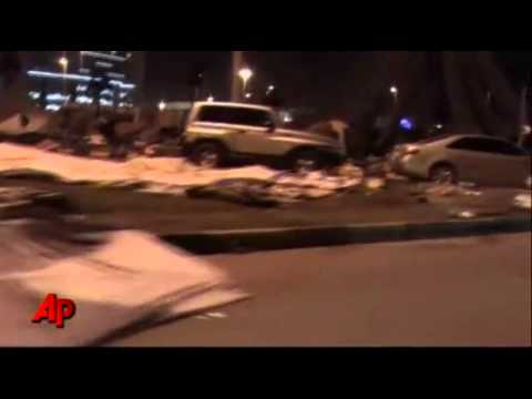 Raw Video  Riot Police Storm Bahrain Camp