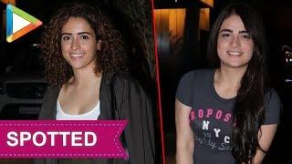 SPOTTED: Sanya Malhotra & Radhika Madan in Juhu - HUNGAMA
