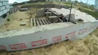 Фундамент пристройки гаража  Снятие опалубки