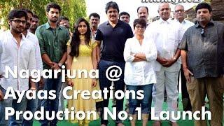 Nagarjuna @ Ayaas Creations Production No 1 Launch - IGTELUGU