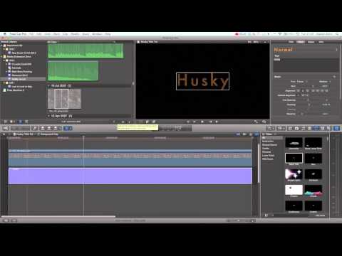 Final Cut Pro X Tutorial - Advanced Title Creation / Design | Husky Film Title