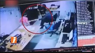 Hotel Women Employee Saree Pulled By Security Manager In Delhi | CCTV Footage | iNews - INEWS