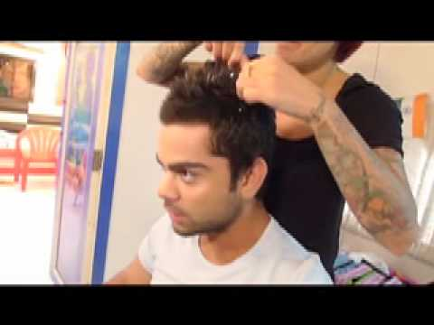 Styling Virat Kohli's Hair Before The World Cup -viVuFcP7z_k