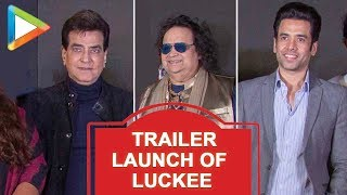 Jeetendra, Tusshar Kapoor & Bappi Lahiri at the Trailer launch of film LUKEE - HUNGAMA