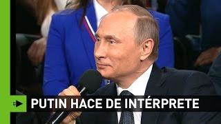 El día que Putin hizo de Traductor para un periodista alemán