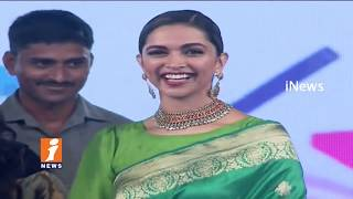 Deepika Padukone Speech | Social Media Summit & Awards | Amaravathi | iNews - INEWS