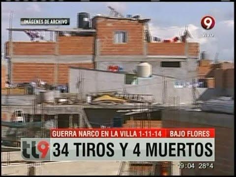 Guerra narco en la Villa 1-11-14: 34 tiros y 4 muertos
