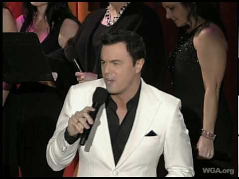 WGA Awards host Seth MacFarlane performs Ya Got Trouble