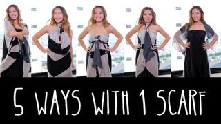 How to Transform Your Scarf in 5 different Beautiful Looks !!
