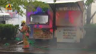 Food carts destroyed, cars damaged in downtown fire | Portland | Mango News - MANGONEWS