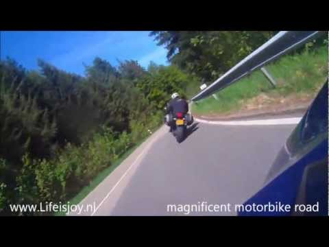 Black Forest Highstreet Germany BMW chasing Aprilia Motorbike B500 MOBILE